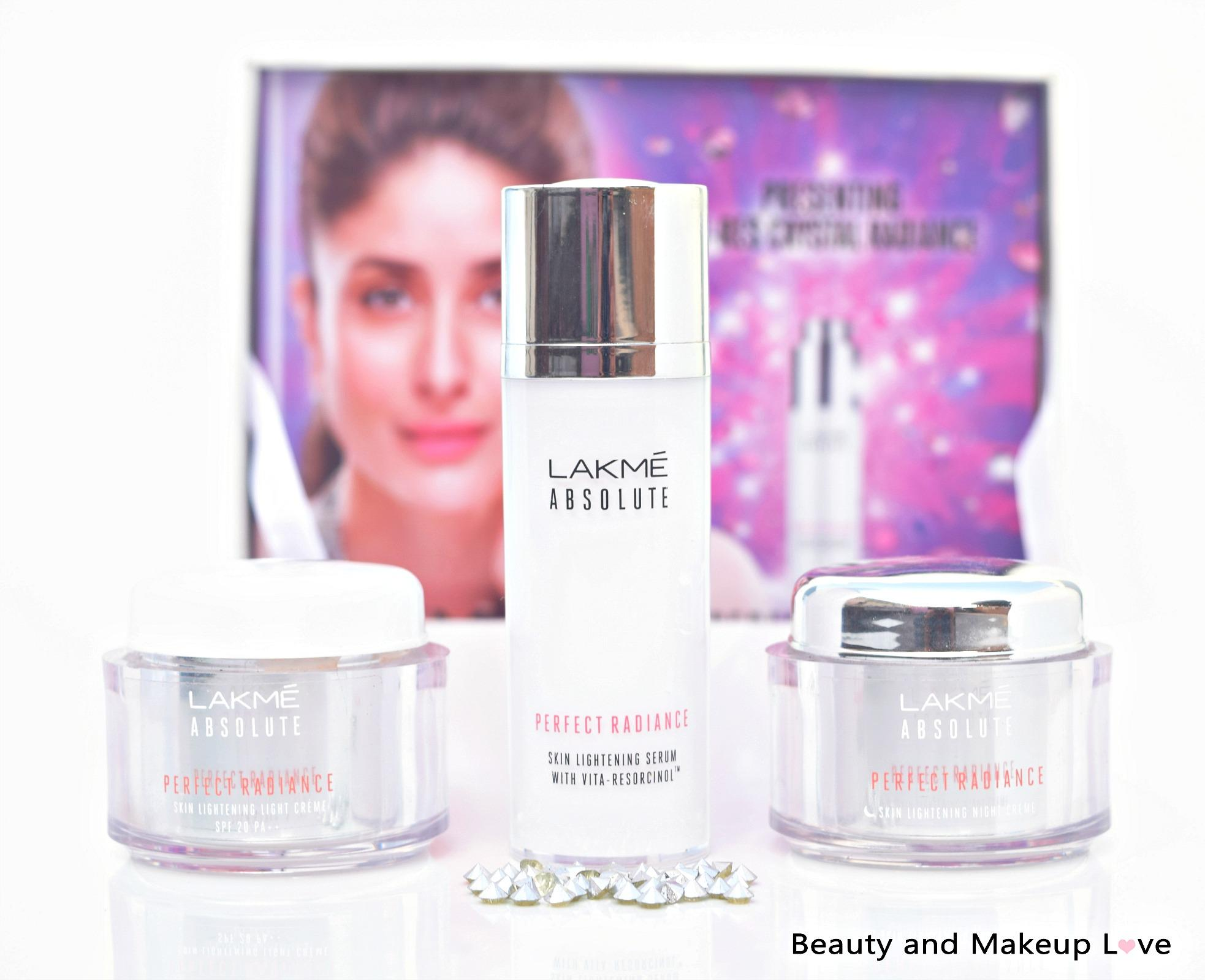 lakme absolute perfect radiance range serum light night cream. Black Bedroom Furniture Sets. Home Design Ideas